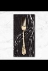PD's Australian Aboriginal Collection Aboriginal, Sandhill in Charcoal, Dinner Napkin
