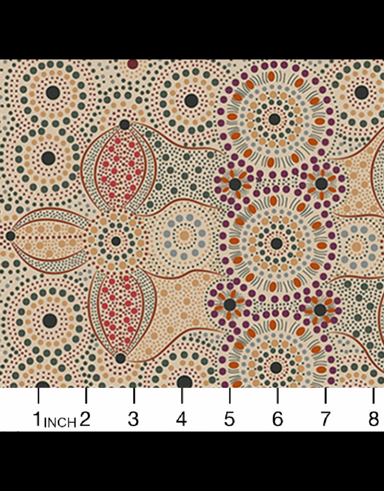 PD's Australian Aboriginal Collection Aboriginal, Spirit Place in Ecru, Dinner Napkin