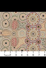 M&S Textiles Australia Aboriginal, Spirit Place in Ecru, Fabric Half-Yards SPEC