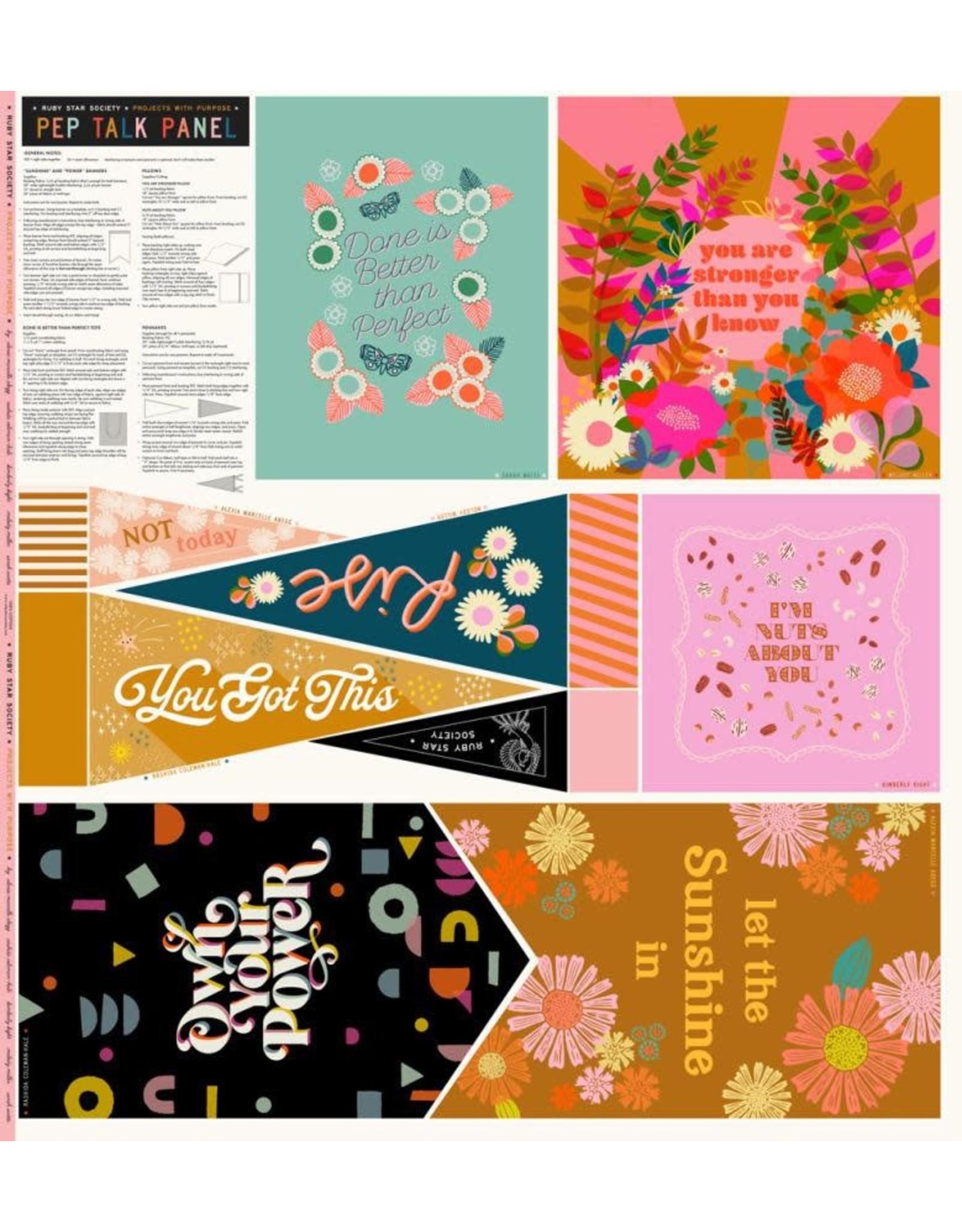 "Ruby Star Society for Moda Ruby Star Society, Pep Talk Panel, 48"" x 45"" Fabric Panel RS5054"