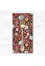 PD's Rifle Paper Co Collection Garden Party, Wild Rose in Burgundy with Metallic, Dinner Napkin