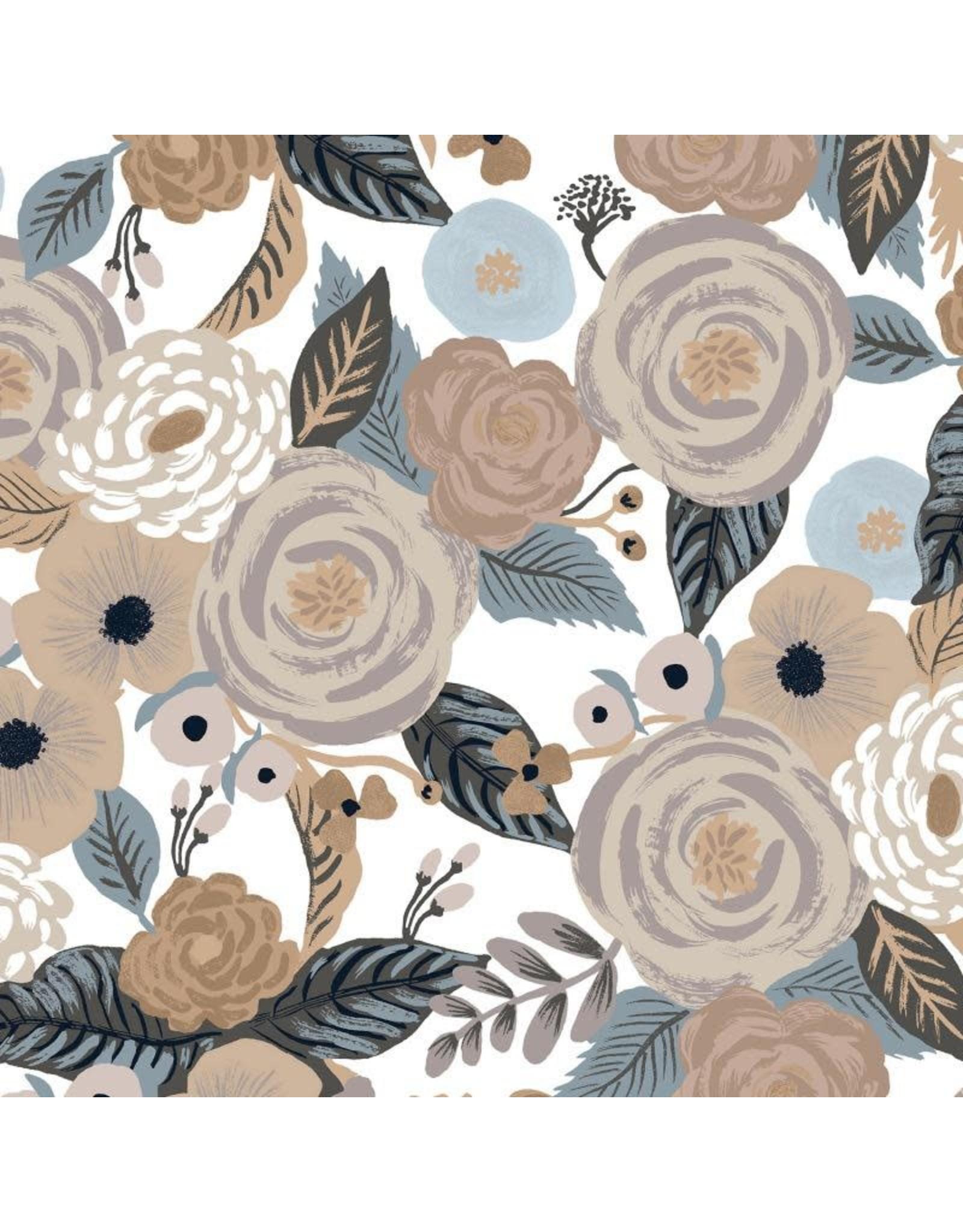 Rifle Paper Co. Linen/Cotton Canvas, Garden Party, Juliet Rose in Linen Multi, Fabric Half-Yards RP520-LM2C