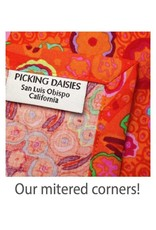 PD's RJR Collection Shiny Objects, Glitz and Glamour Abstrct in Coral with Gold Metallic, Dinner Napkin