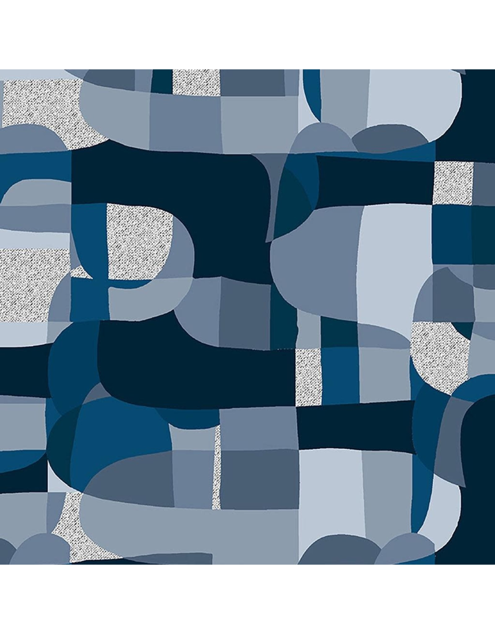 RJR Fabrics Shiny Objects, Glitz and Glamour Abstrct in Deep Ocean with Silver Metallic, Fabric Half-Yards RJ2800-DO4M