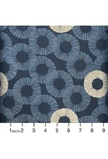 RJR Fabrics Shiny Objects, Glitz and Glamour Eclipse in Blue Dusk with Silver Metallic, Fabric Half-Yards RJ2802-BD4M