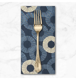 PD's RJR Collection Shiny Objects, Glitz and Glamour Eclipse in Blue Dusk with Silver Metallic, Dinner Napkin