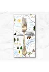PD's Michael Miller Collection Coast to Coast, Shore to Shore in White, Dinner Napkin