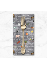 PD's Michael Miller Collection Coast to Coast, Cross Country in Gray, Dinner Napkin
