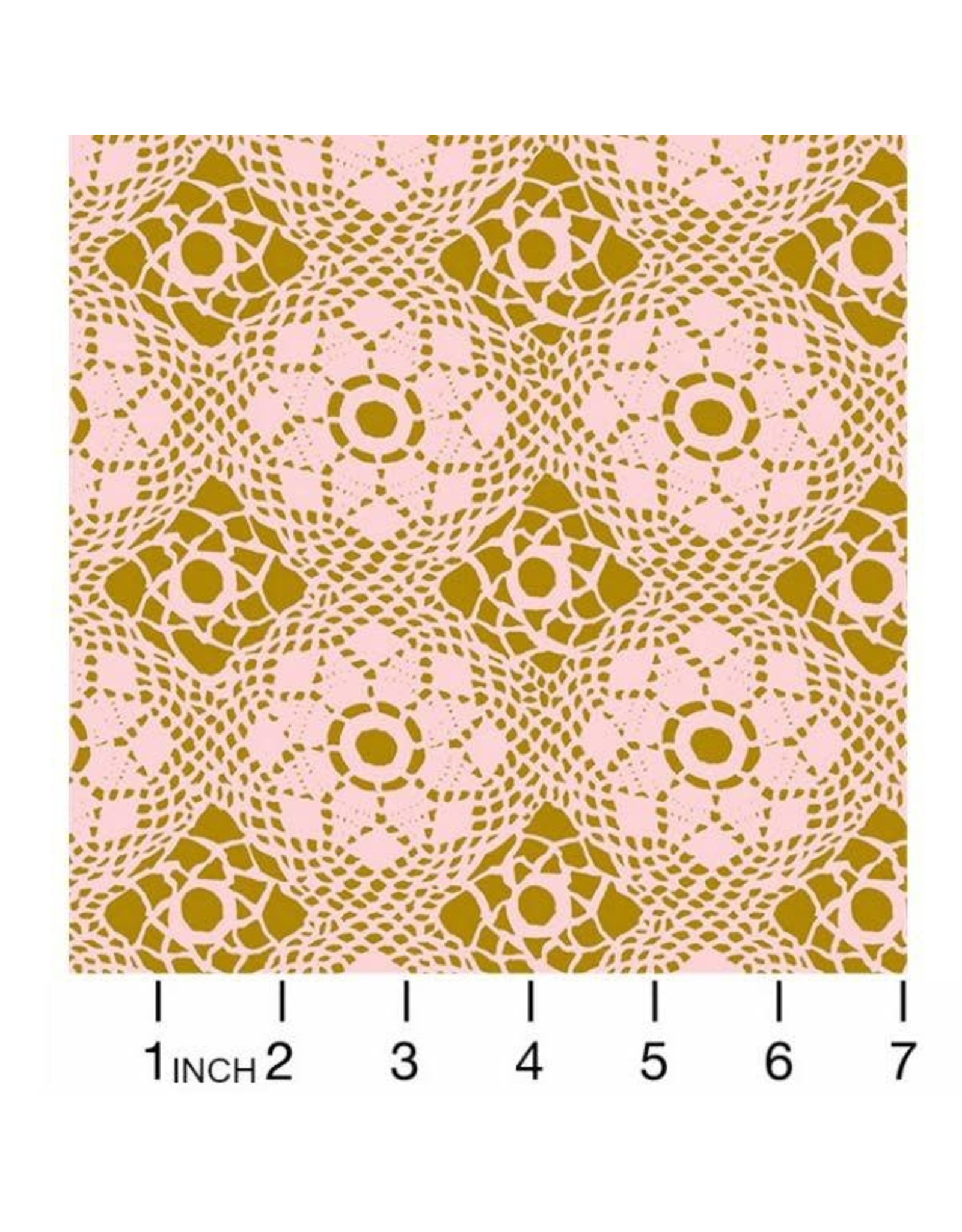 Alison Glass ON SALE-Handiwork, Crochet in Blush, Fabric Half-Yards