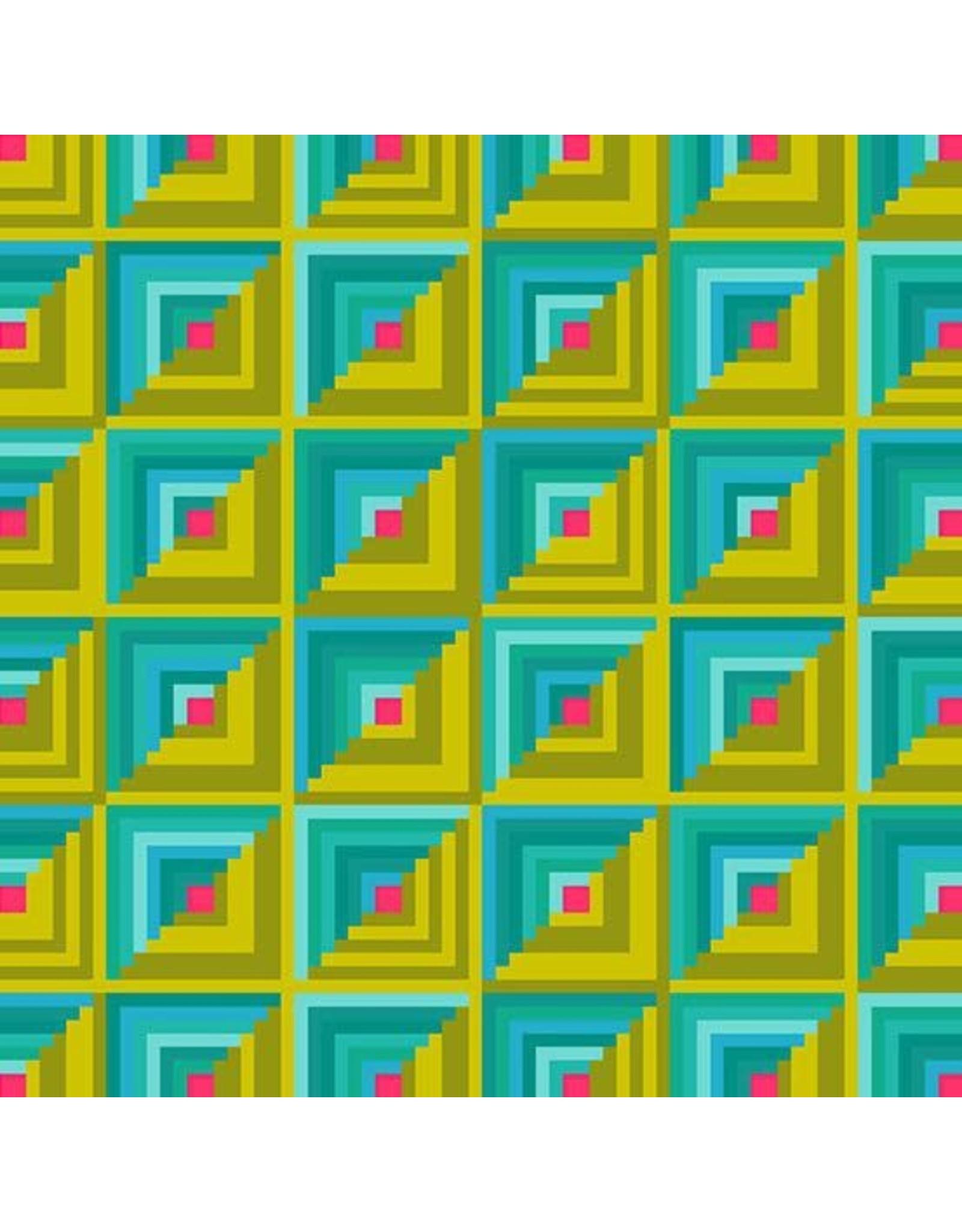 Alison Glass ON SALE-Handiwork, Patchwork in Ocean, Fabric FULL-Yards
