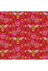 Alison Glass Handiwork, Beadwork in Scarlet, Fabric Half-Yards A-9250-E