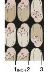 Alexander Henry Fabrics ON SALE-The Ghastlies, A Ghastlie Bulb in Black, Fabric FULL-Yards