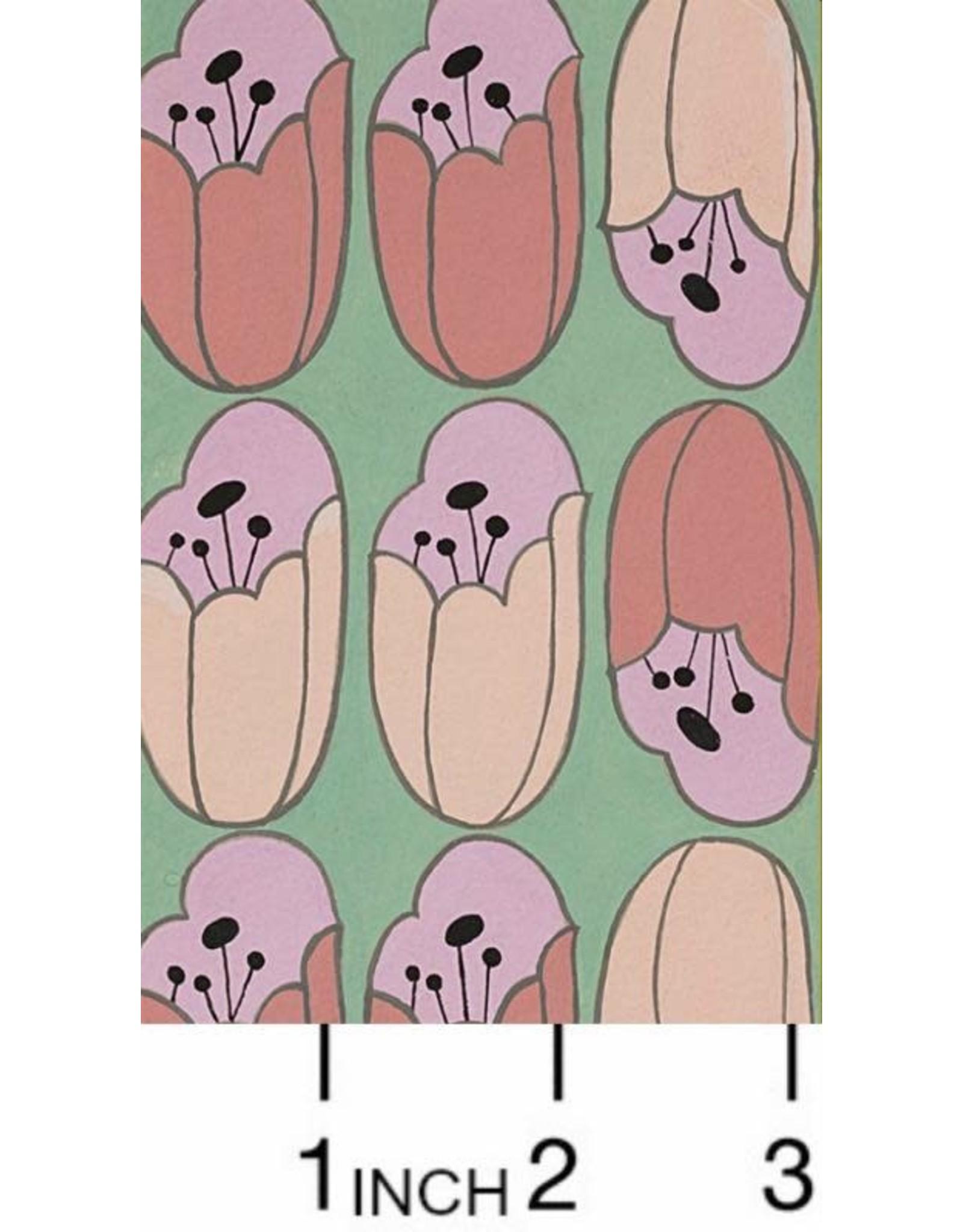 Alexander Henry Fabrics ON SALE-The Ghastlies, A Ghastlie Bulb in Mint Pink, Fabric FULL-Yards