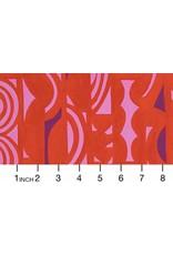 Alexander Henry Fabrics ON SALE-The Ghastlies, A Ghastlie Screen in Red, Fabric FULL-Yards