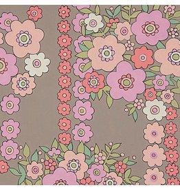 Alexander Henry Fabrics The Ghastlies, A Ghastlie Bouquet in Gray Pink, Fabric Half-Yards 8789A