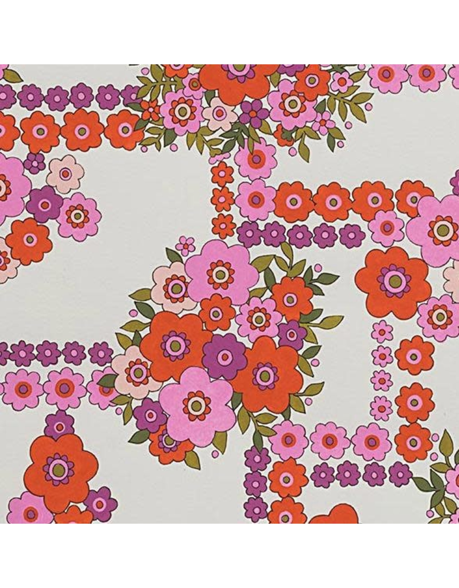 Alexander Henry Fabrics ON SALE-The Ghastlies, A Ghastlie Bouquet in Natural Red, Fabric FULL-Yards