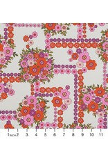 Alexander Henry Fabrics The Ghastlies, A Ghastlie Bouquet in Natural Red, Fabric Half-Yards 8789B