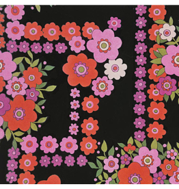 Alexander Henry Fabrics The Ghastlies, A Ghastlie Bouquet in Black, Fabric Half-Yards 8789D