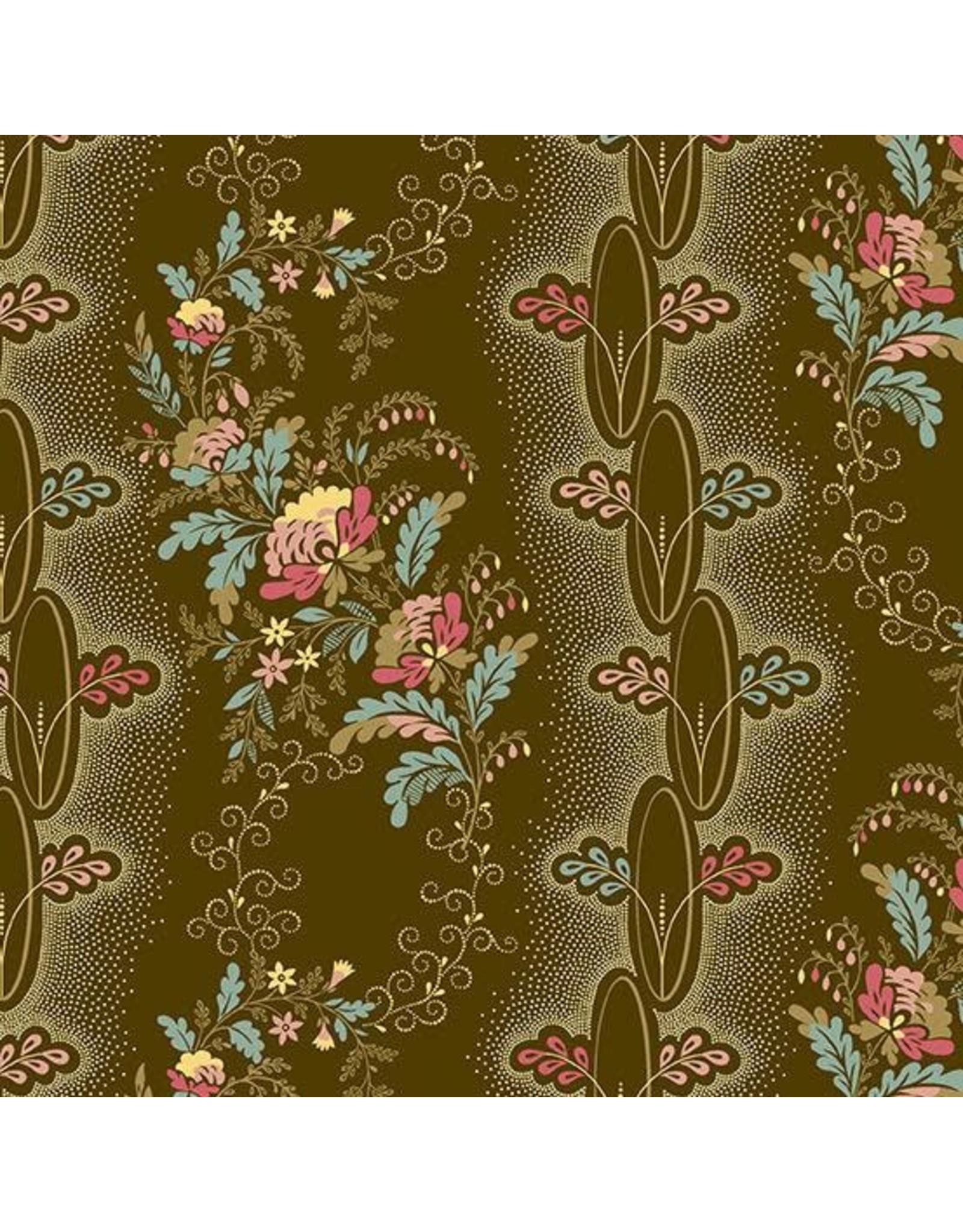 Andover Fabrics Chesapeake, Vine in Brown, Fabric Half-Yards A-9324-N