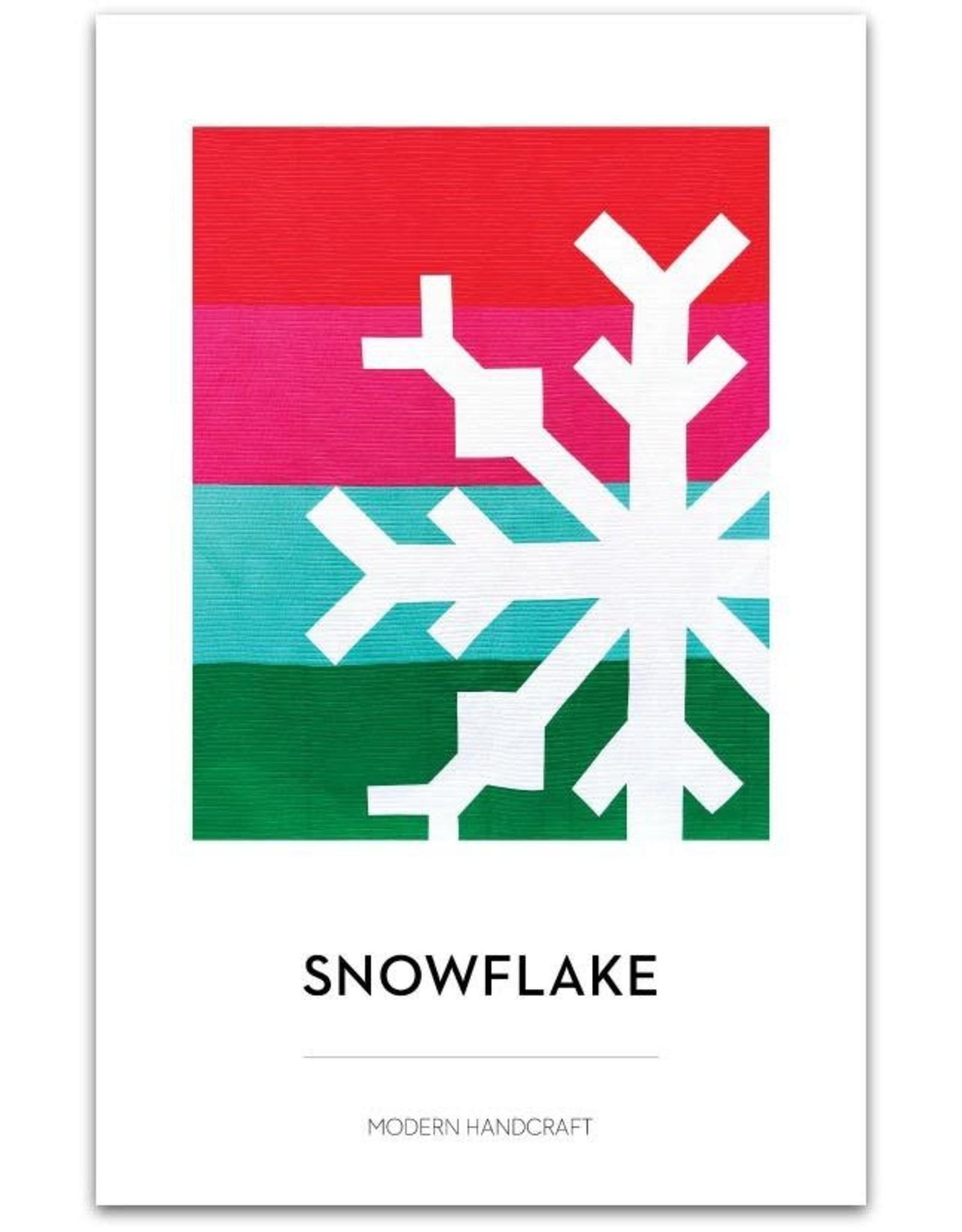 Modern Handcraft Snowflake Quilt Pattern