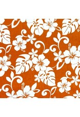 Sevenberry ON SALE-Island Paradise, Classic Hawaiian in Orange, Fabric FULL-Yards