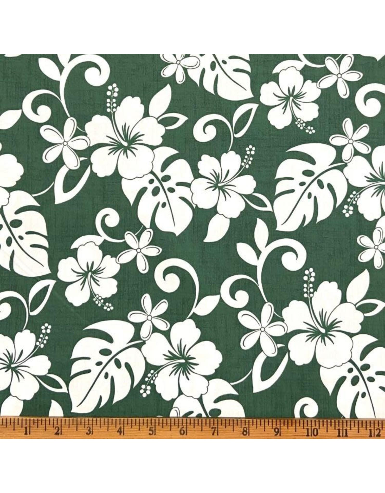 Sevenberry Island Paradise, Classic Hawaiian in Green, Fabric Half-Yards SB-4144-2-4