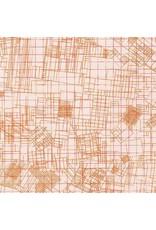 Carolyn Friedlander ON SALE-Collection CF, Blueprint in Shell, Fabric FULL-Yards