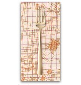PD's Carolyn Friedlander Collection Collection CF, Blueprint in Shell, Dinner Napkin