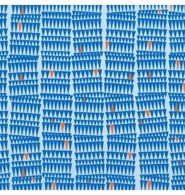 Carolyn Friedlander ON SALE-Collection CF, Sharp in Blue, Fabric FULL-Yards