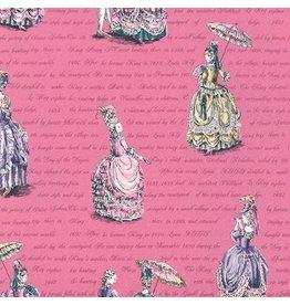Robert Kaufman ON SALE-Ruru Marie, Ladies in Pink, Fabric FULL-Yards