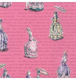 Robert Kaufman Ruru Marie, Ladies in Pink, Fabric Half-Yards QGRU-2380D12