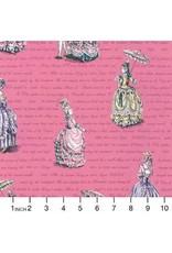 Robert Kaufman ON SALE-Ruru Marie, Ladies in Pink, Fabric Half-Yards