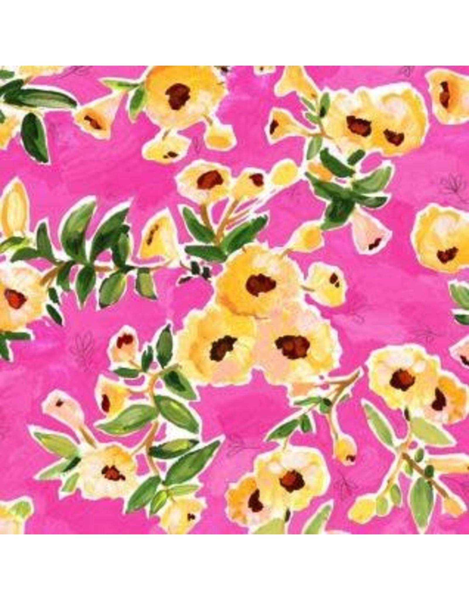August Wren ON SALE-Viva Mexico!, Flower Wall in Multi, Fabric FULL-Yards