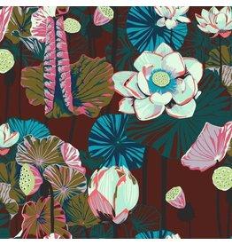 Anna Maria Horner One Mile Radiant, Lotus in Garnet, Fabric Half-Yards PWAM012