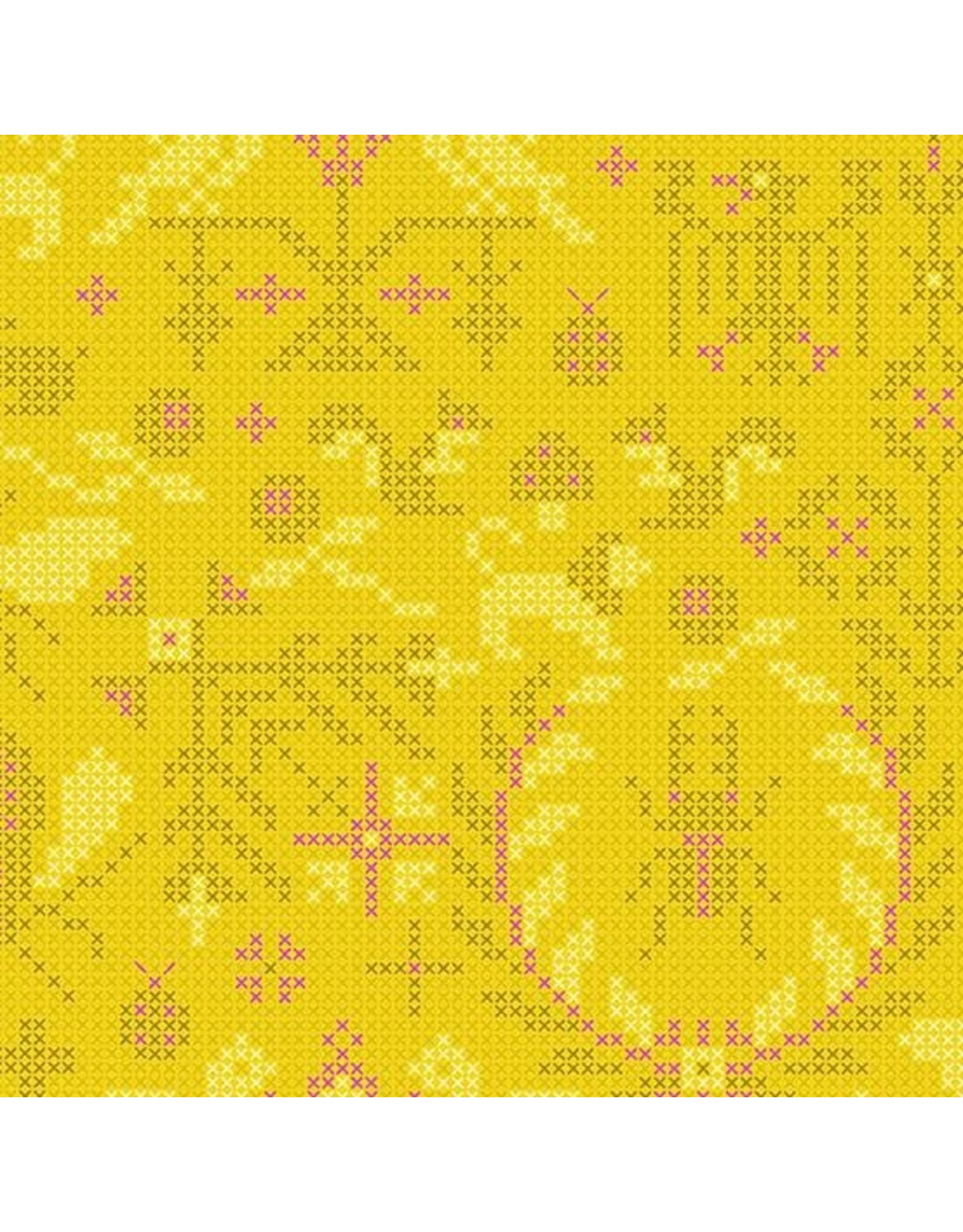 Alison Glass ON SALE-Sun Print 2020, Menagerie in Pencil, Fabric Half-Yards