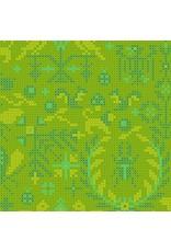 Alison Glass ON SALE-Sun Print 2020, Menagerie in Lichen, Fabric FULL-Yards