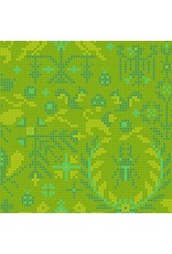 Alison Glass Sun Print 2020, Menagerie in Lichen, Fabric Half-Yards A-9387-G