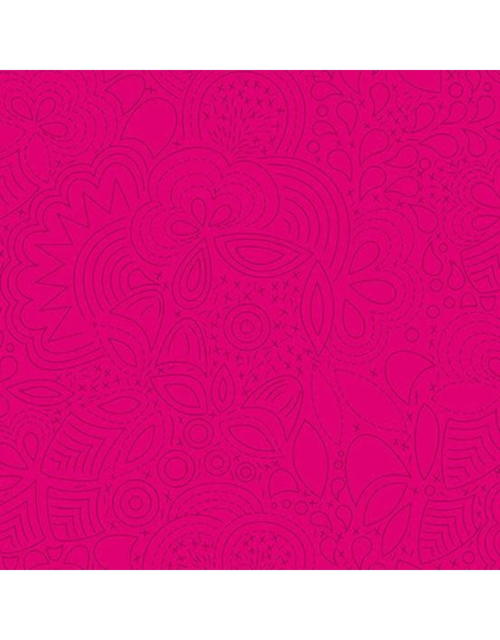 Alison Glass Sun Print 2020, Stitched in Iodine, Fabric Half-Yards A-8450-E1