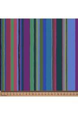 "Kaffe Fassett Kaffe Collective 2020, Promenade Stripe in Cold, Fabric Half-Yards  PWGP178 (ONE 16"" CUT REMAINING)"