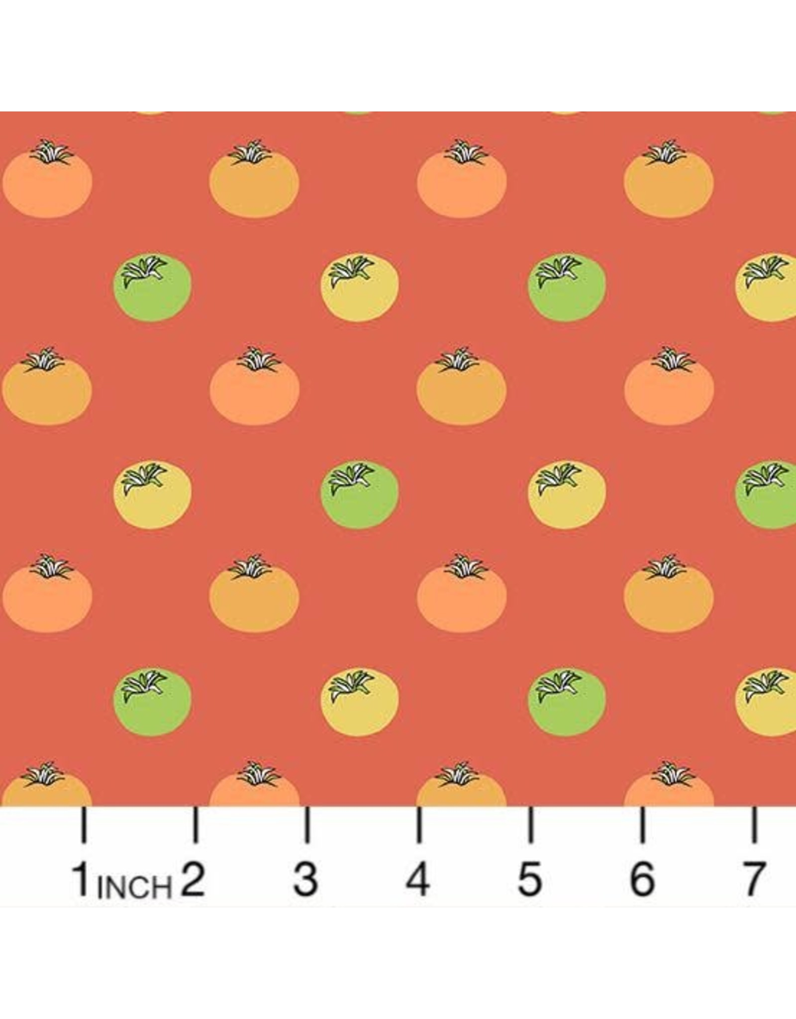 Andover Fabrics Farm to Fabric, Heirloom Tomatoes in Red, Fabric Half-Yards 9391-O