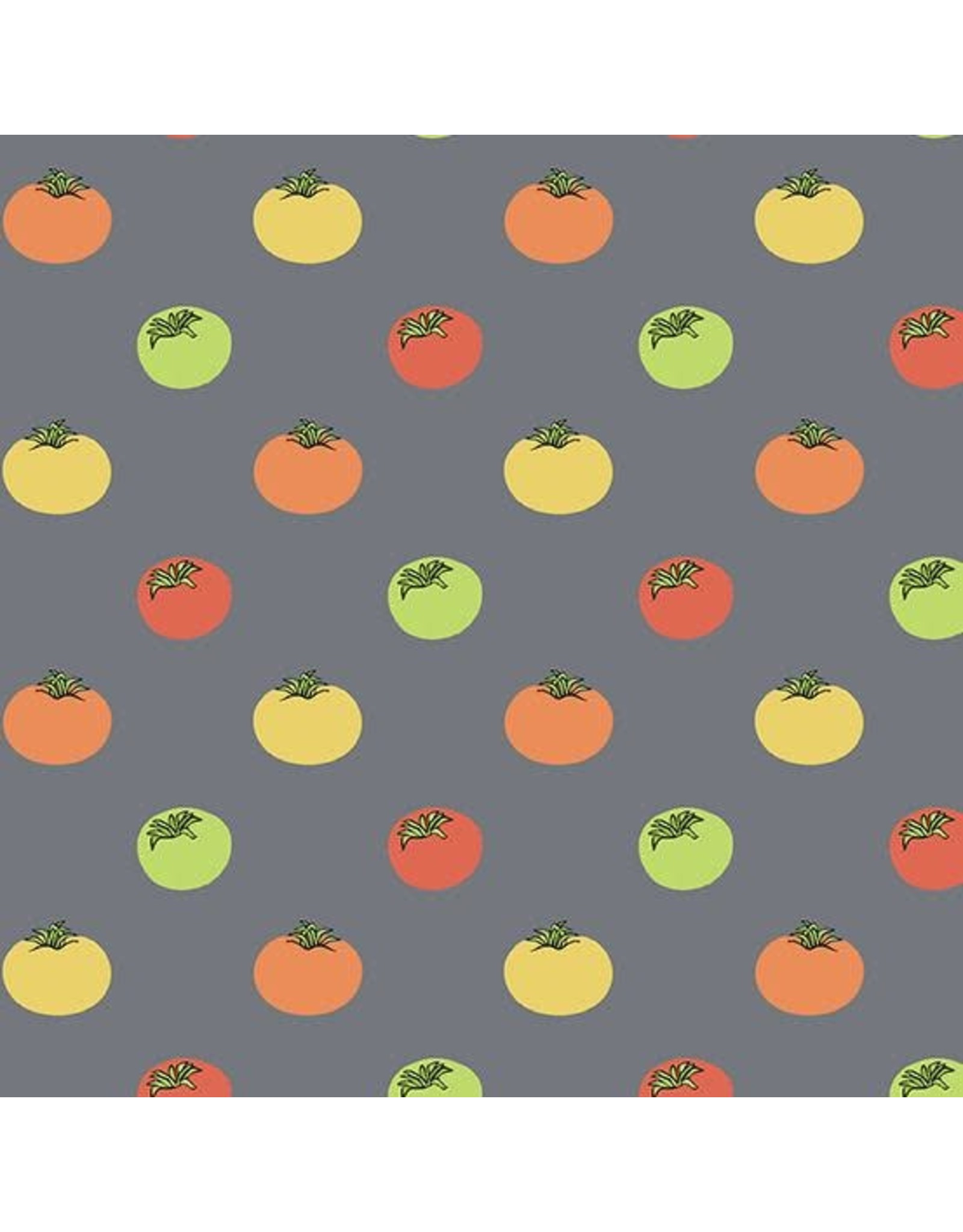 Andover Fabrics Farm to Fabric, Heirloom Tomatoes in Grey, Fabric Half-Yards 9391-C