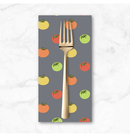 PD's Andover Collection Farm to Fabric, Heirloom Tomatoes in Grey, Dinner Napkin