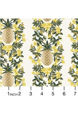 PD's Rifle Paper Co Collection Primavera, Pineapple Stripe in Cream, Dinner Napkin