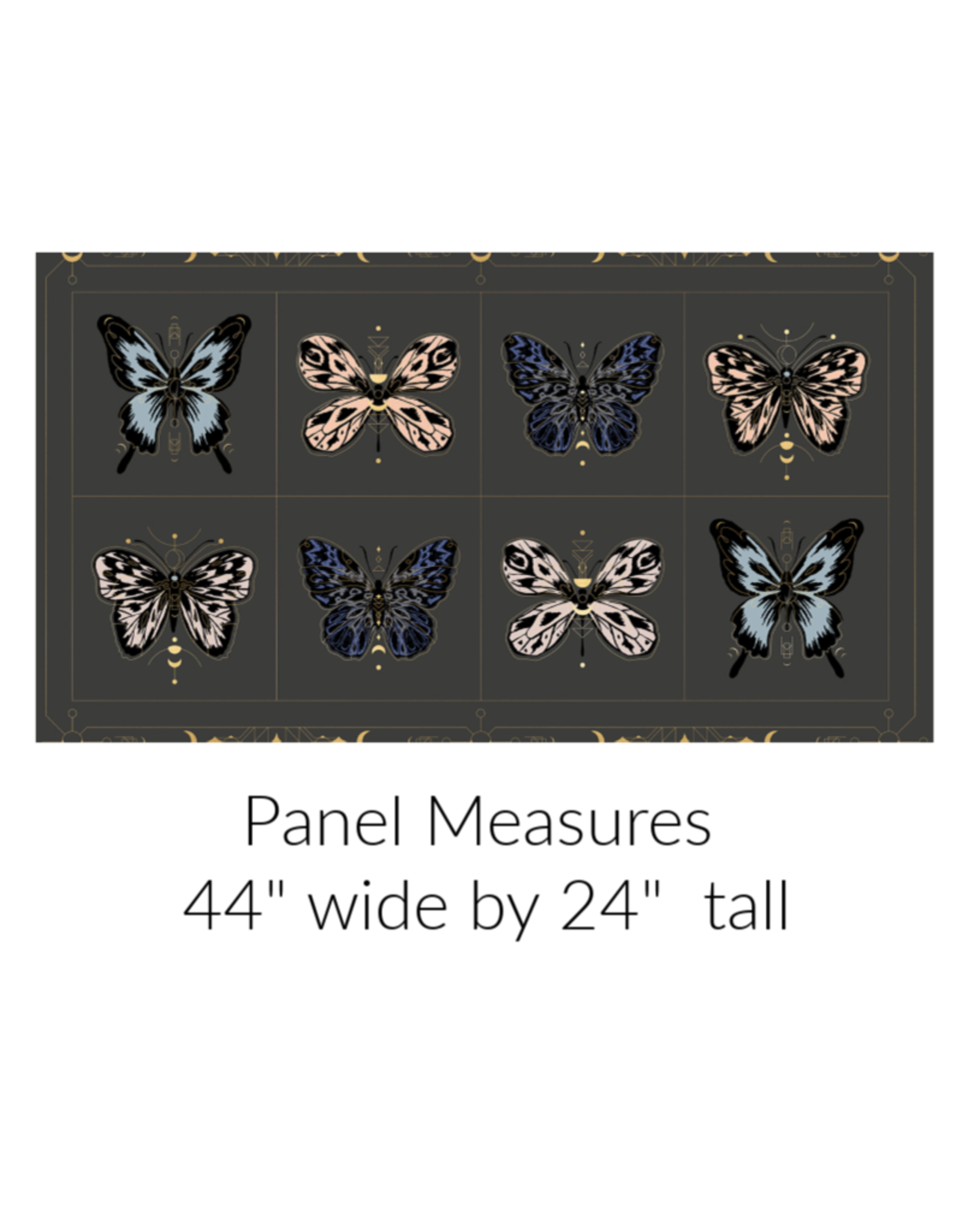 Sarah Watts Ruby Star Society, Tiger Fly, Gossamer Panel in Ash with Metallic, Fabric Panel RS2002 14M