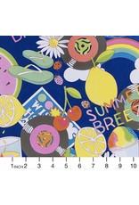 Alexander Henry Fabrics ON SALE-Boardwalk, Summer Breeze in Marine, Fabric Half-Yards