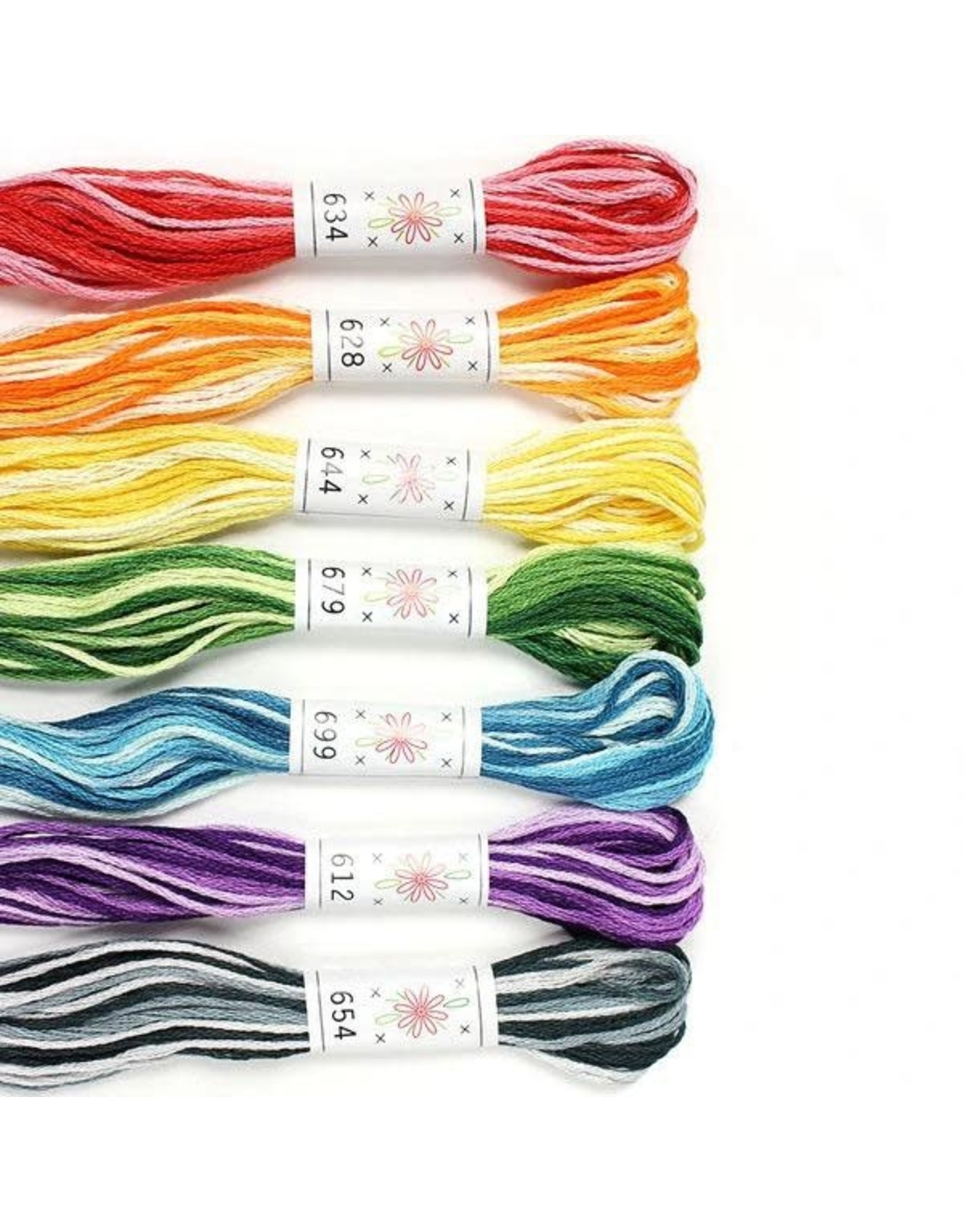 Sublime Stitching Embroidery Floss Set, Taffy Pull Palette - Seven 8.75 yard skeins