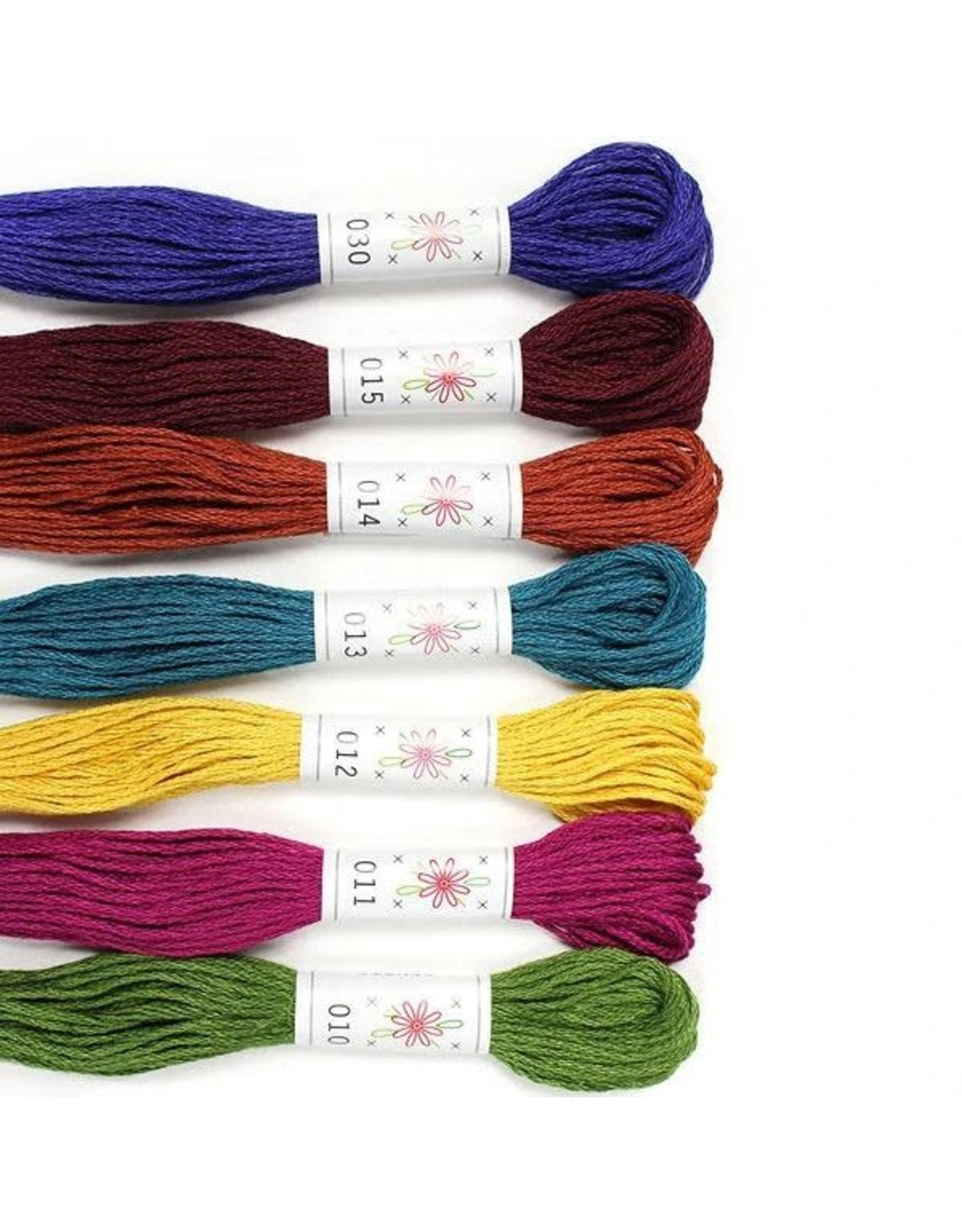 Sublime Stitching Embroidery Floss Set, Laurel Canyon Palette - Seven 8.75 yard skeins