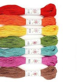 Sublime Stitching ON ORDER-Embroidery Floss Set, Fruit Salad Palette - Seven 8.75 yard skeins