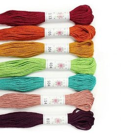 Sublime Stitching Embroidery Floss Set, Parlour Palette - Seven 8.75 yard skeins