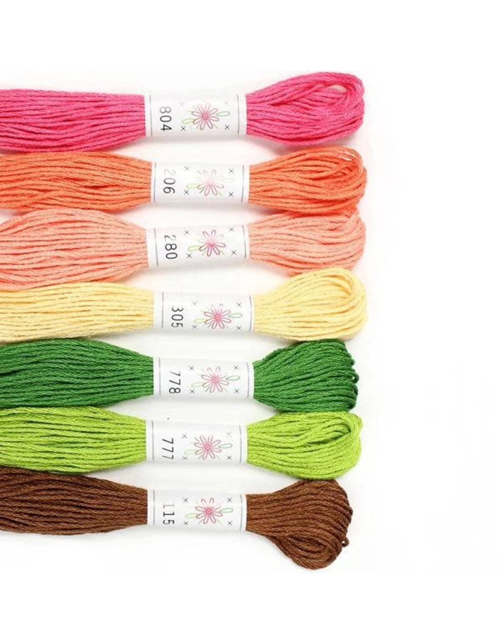 Sublime Stitching Embroidery Floss Set, Flowerbox Palette - Seven 8.75 yard skeins